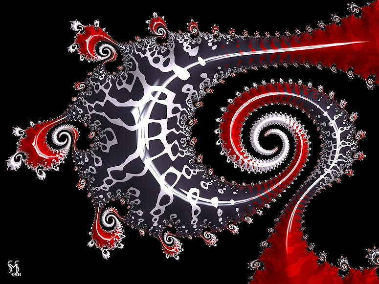 Sea Dragon - Fractal Art by Susan Maxwell Schmidt