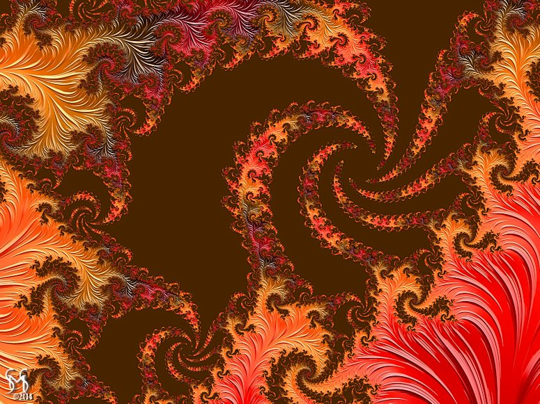 The Leaves of Autumn -Fractal Art by Susan Maxwell Schmidt