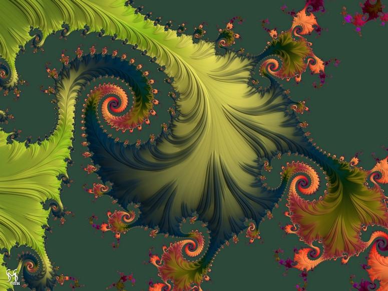 Rain Forest - Fractal Art by Susan Maxwell Schmidt