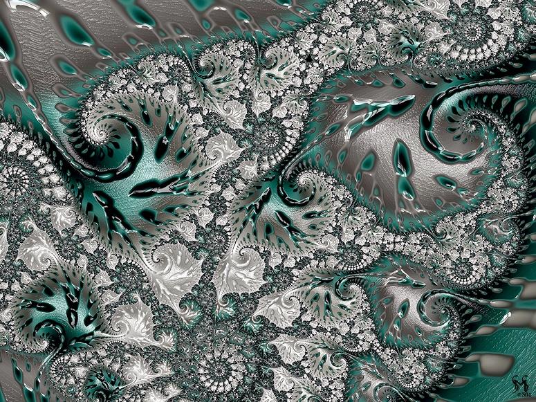 Teal Tabinet -Fractal Art by Susan Maxwell Schmidt