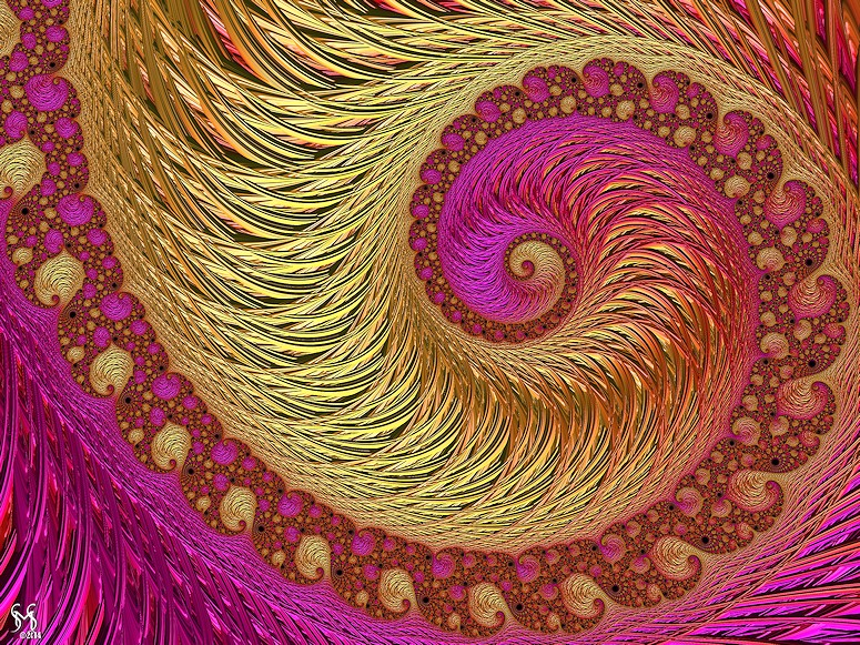 Wire Wrapped -Fractal Art by Susan Maxwell Schmidt