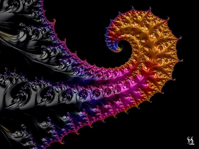 Color Curl - Fractal Art by Susan Maxwell Schmidt