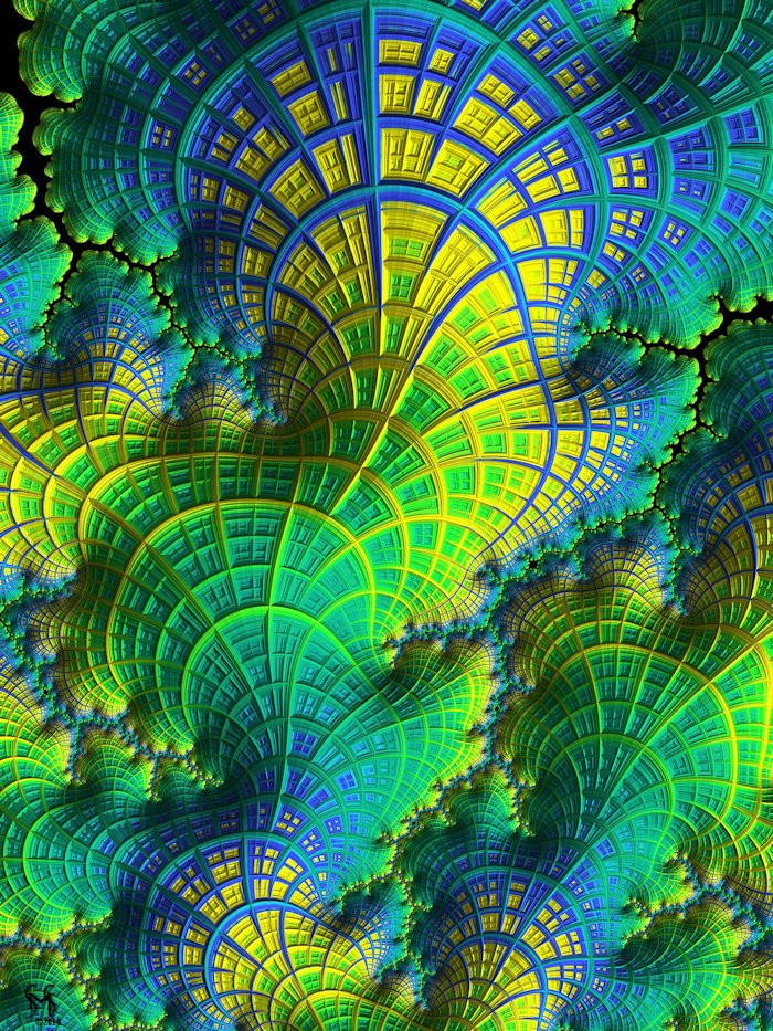 Coral Electric - Conceptual Fractal Art by Susan Maxwell Schmidt