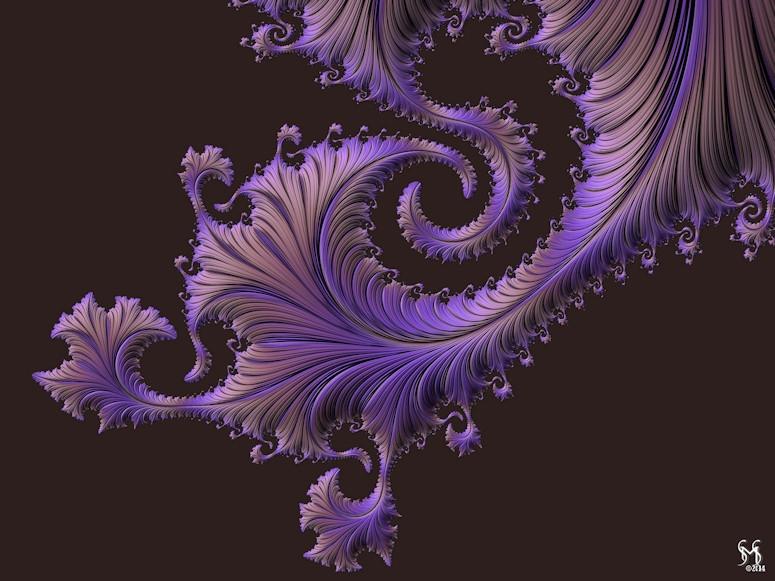 Tanzanite Glow - Fractal Art by Susan Maxwell Schmidt