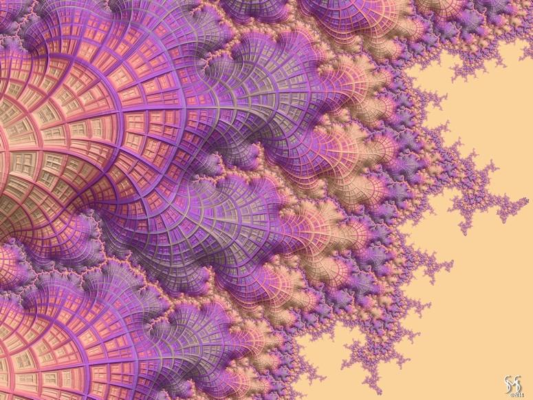 Woven Pastels - Fractal Art by Susan Maxwell Schmidt